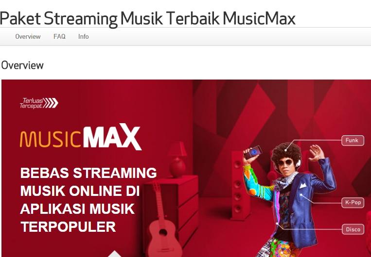 streaming musik indonesia terbaru dengan paket musicmax
